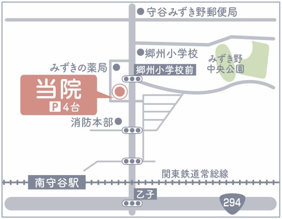 つむぎ動物病院地図